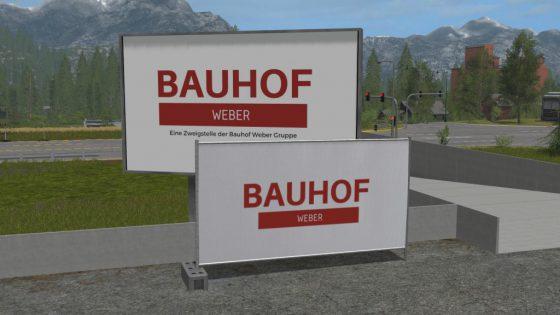 Bauhof Weber Bauzaun (Platzierbar)